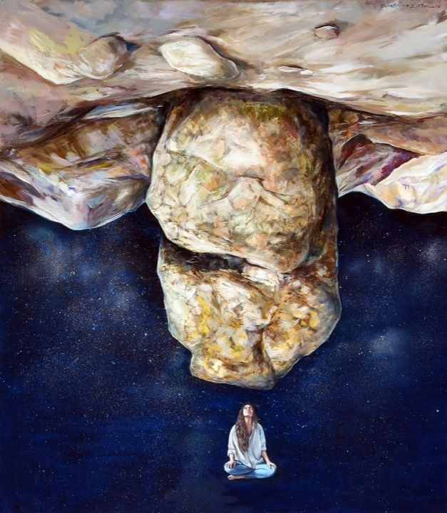 #IranianPainters Inversion By Zahra Shafie 2017 Style: Surrealism Medium: Oil on Canvas Genre: Symbolic Painting Location: Inversion Exhibition, Mah Art Gallery, Tehran, Iran CopyRight: Fair Use وارونگي از زهرا شفيع ١٣٩٦ سبك: فراواقع گرايي تكنيك: رنگ روغن بر بوم ژانر: نقاشي نمادين محل نگهداري اثر: نمايشگاه وارونگي، نگارخانه ماه، تهران، ايران حق تكثير: استفاده منصفانه