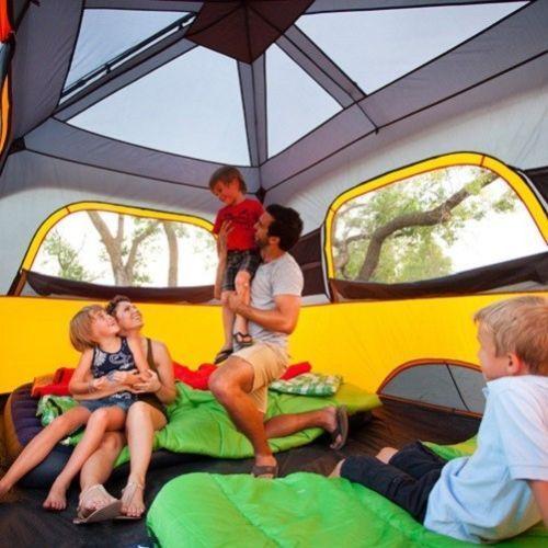 Tenda LUXURY Casa Casetta Grande veranda Campeggio camper per Famiglia Familiare igloo 6 8 10 12 posti Boy Scout