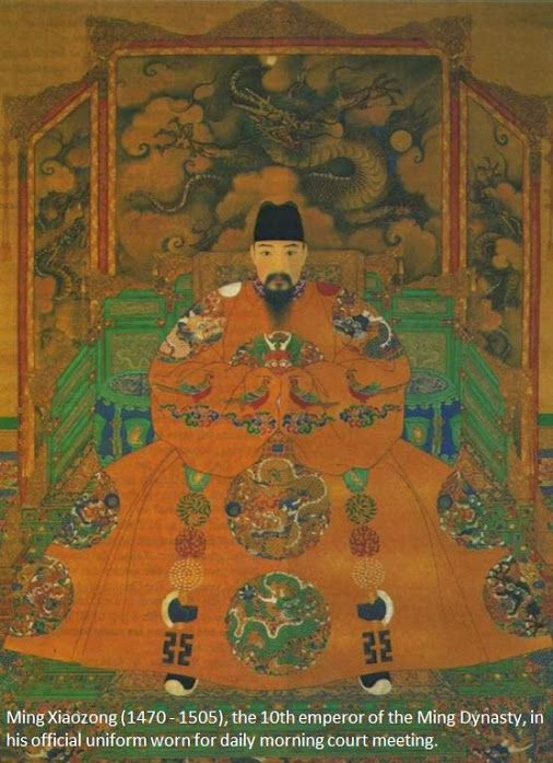 Ming Xiaozong of the Ming Dynasty (1368 1644), the only Chinese emperor practiced monogamous marriage and kept faithful to his wife. (#china   #emperor   #uniform)