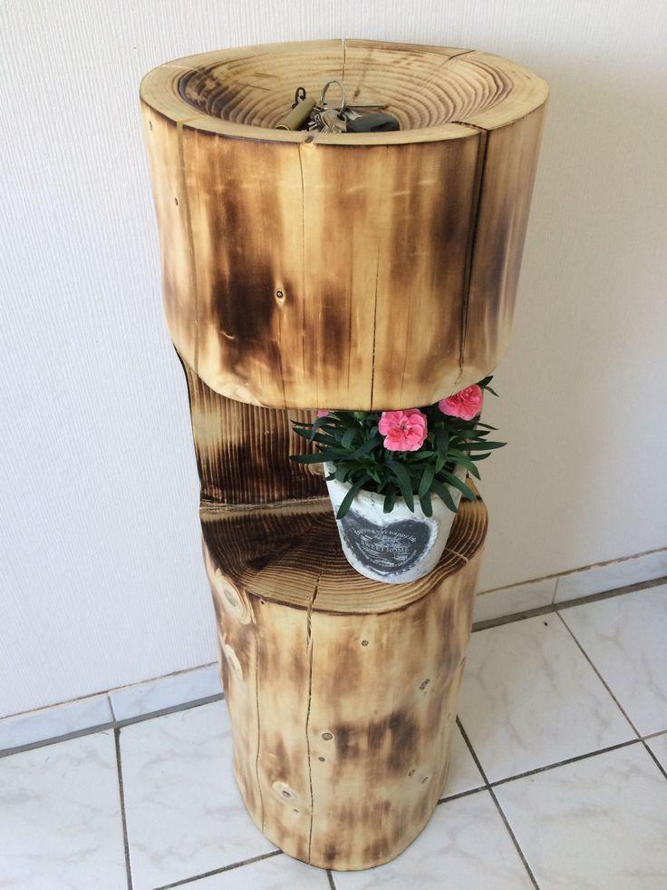 Wunderschöner Baumstamm mit eingearbeiteter Schlüsselschale in Möbel & Wohnen, Dekoration, Skulpturen & Statuen | eBay
