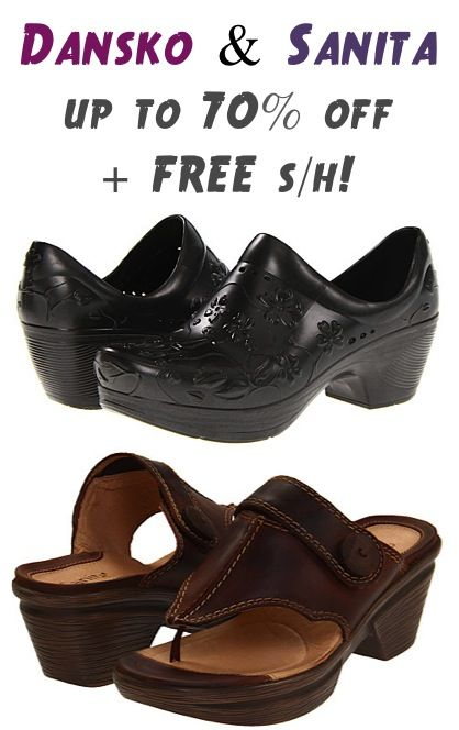 Dansko and Sanita Shoes and Sandals: up to 70% off + FREE Shipping!! #sandals #shoes