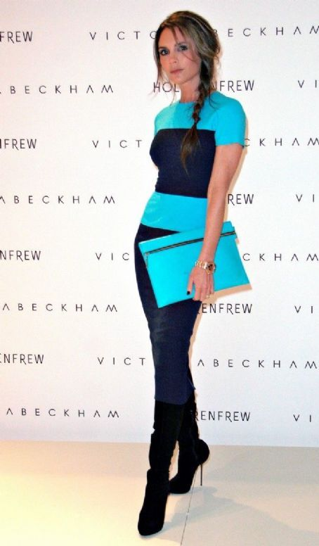 Victoria Beckham: at a promo event for her namesake line at Holt Renfrew in Vancouver