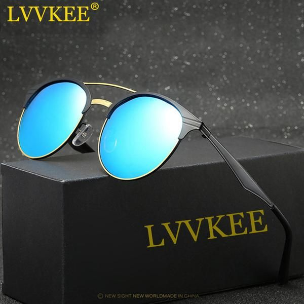 LVVKEE 2017 NEW HD Polarized lens Sunglasses Men/Women retro Brand Sun Glasses metal frame Driving sunglass gafas de sol mujer