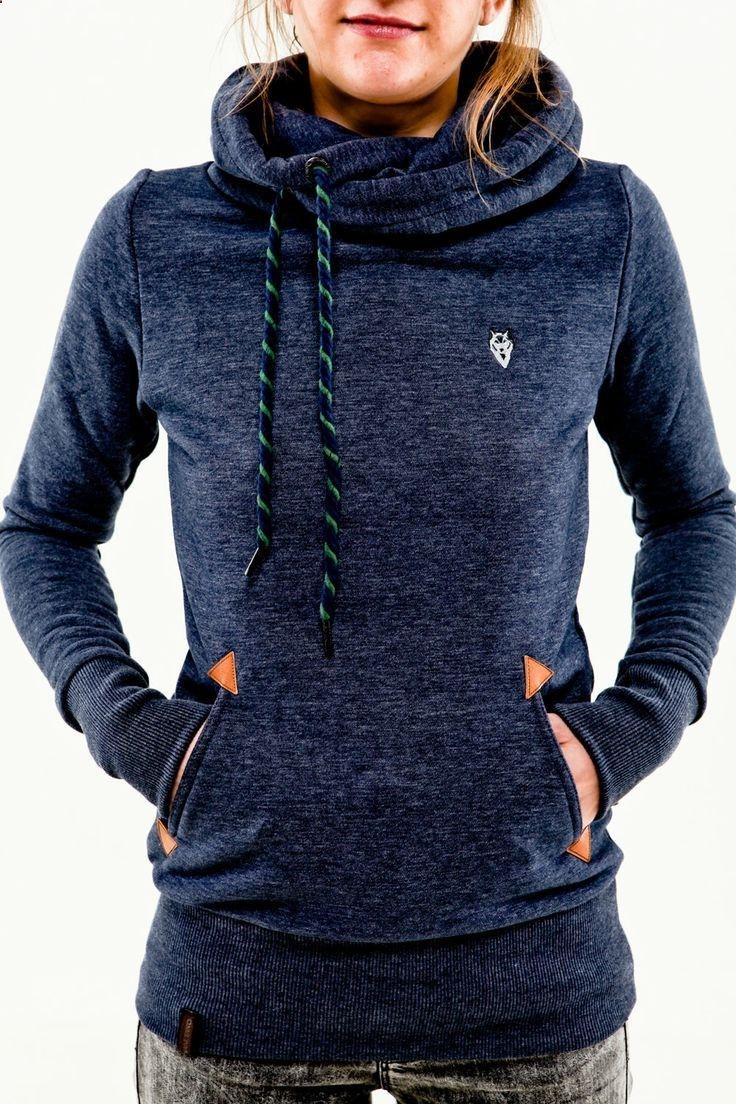 Naketano Darth blue melange Women Hoodie. Won't need this anytime soon in the tropics but I love it!