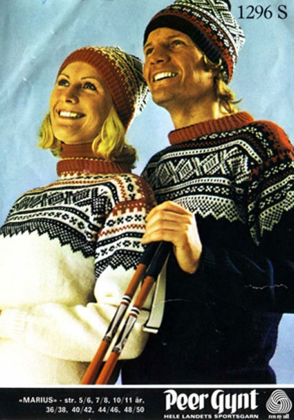 Marius sweater. Nice old picture from a knitting pattern I found in a handcraft blog.
