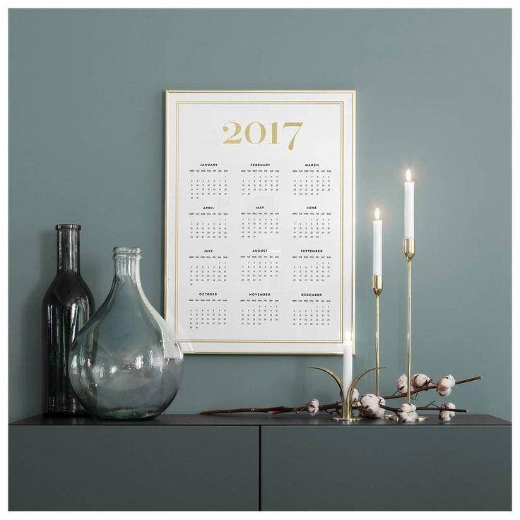 "2,702 curtidas, 29 comentários - DESENIO (@desenio) no Instagram: ""Check out our new calendars for 2017 🌟 We've got five new calendars for different styles. This…"""