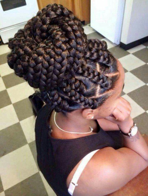 box braids hairstyles updo
