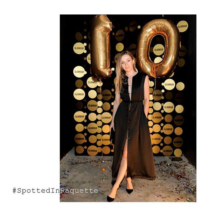 #SpottedInRaquette our lovely designer • Violette • shining in a Raquette Love Me Silk Trench Dress    at GLAMOUR Romania anniversary party #maisonraquette