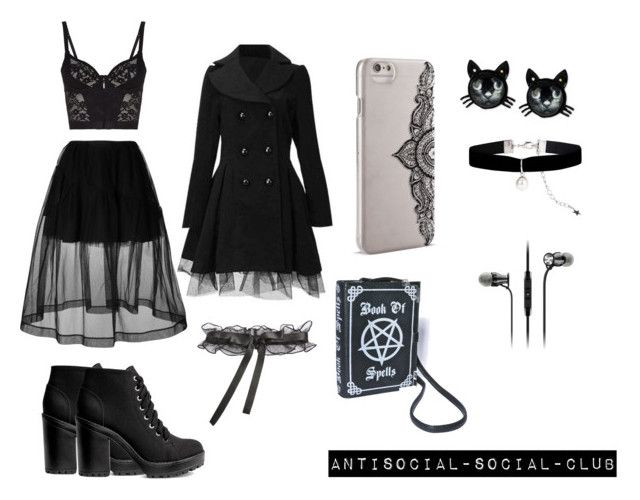 :)) by guns-nicole-roses on Polyvore featuring Simone Rocha, Agent Provocateur, Betsey Johnson, Sennheiser and Nanette Lepore
