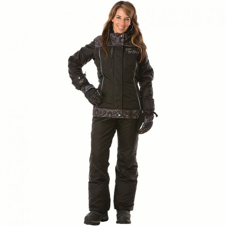 Jalene Is Wearing A Black Diva S Snowmobile Jacket With