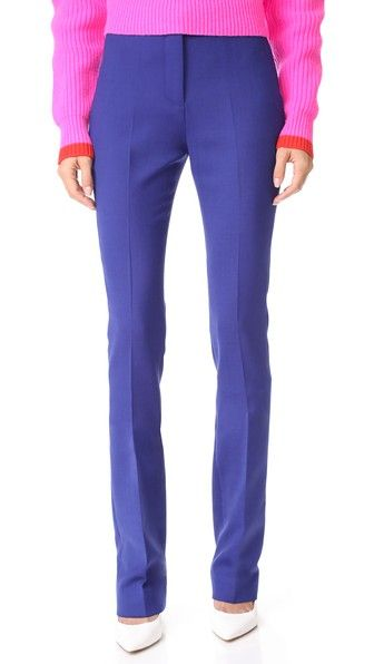 ¡Consigue este tipo de pantalón recto de Victoria Victoria Beckham ahora! Haz clic para ver los detalles. Envíos gratis a toda España. Victoria Victoria Beckham Straight Pants: NOTE: Sizes listed are UK/Australian. Please see Size & Fit tab. These menswear-inspired Victoria Victoria Beckham trousers have a slim cut and a flattering high rise. Slant hip pockets and welt back pockets. Hook-and-eye closure and zip fly. Fabric: Stretch suiting. Shell: 55% polyester/39% wool/4% elastane/2% pol...