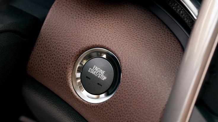 Posh brown leather interior of  Chevy Malibu LTZ sedan. #MalibuStyle @chevrolet