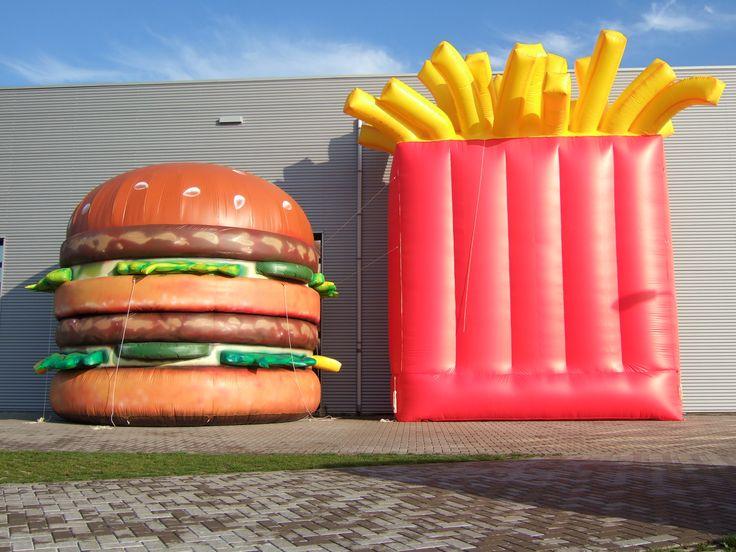Aufblasbarer Burger Und Pommes Tüte