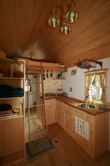 Interior Small House Interior Design: Interior Of Ella's Tumbleweed Tiny House