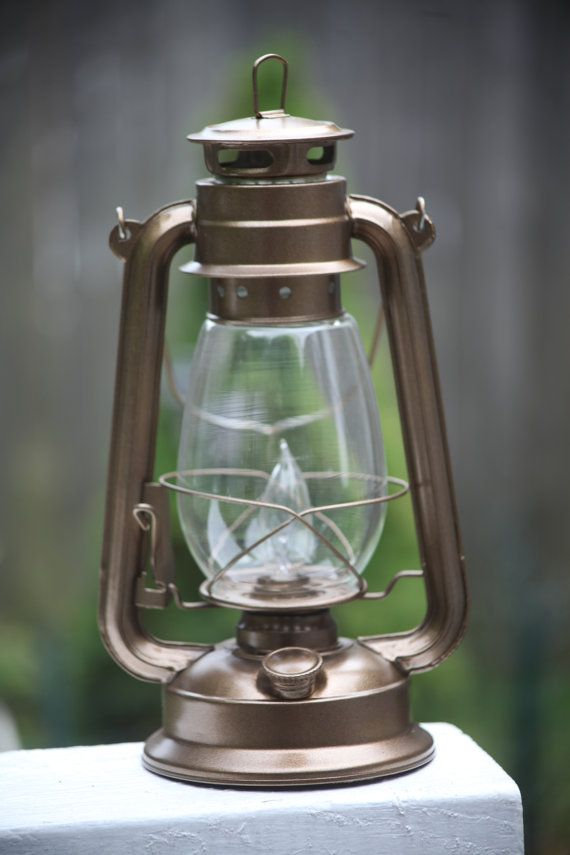 Exceptional Electric Hurricane Lantern Lamp Light BRONZE With Bulb