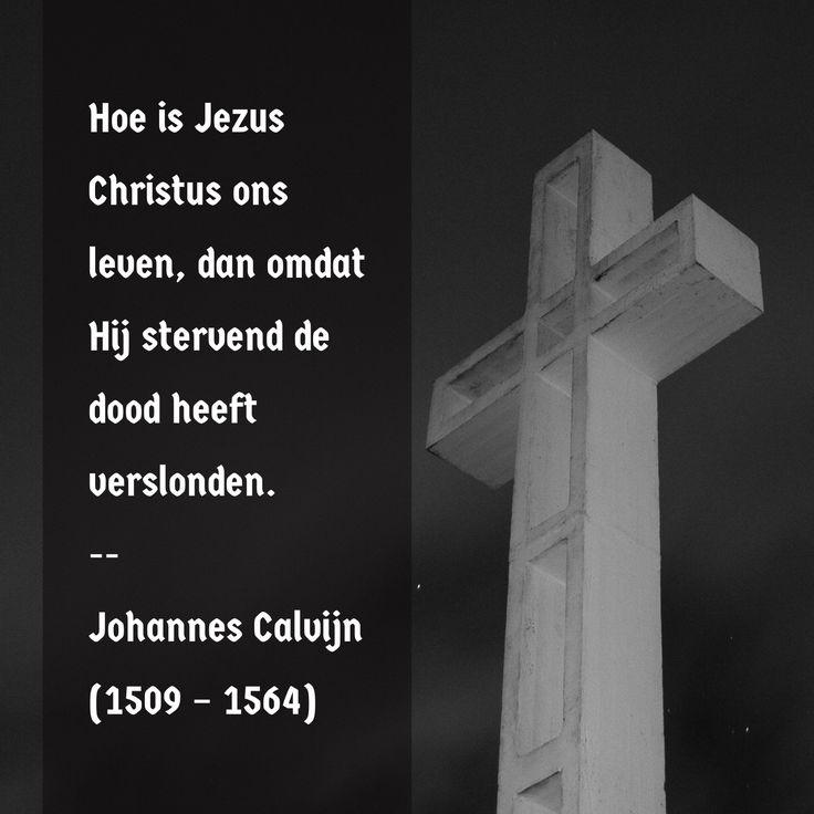 Hoe Jezus Christus ons leven is - Johannes Calvijn(1509 – 1564)