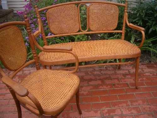 $285 Or Best Offer Ebay Thonet Bentwood Caned Loveseat Settee Chair  Excellent Condition Art Nouveau |