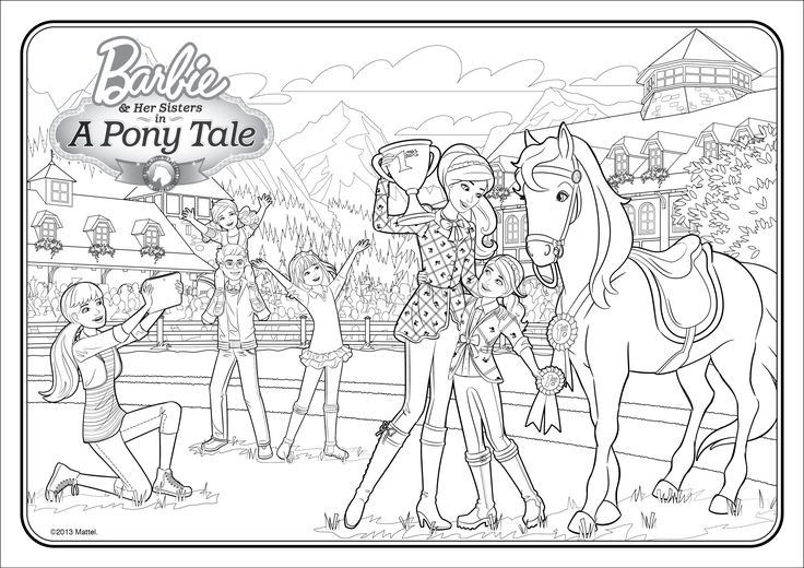 Barbie Dream House Printable Coloring Pages Barbie House Kleurplaten