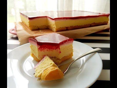 Ciasto bez pieczenia malinowe