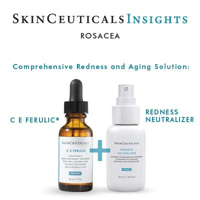 This duo is perfect for fighting redness, rosacea and aging by preventing the oxidative stress that leads to skin damage and neutralizes the inflammation cascade—in turn preventing signs of premature aging and reducing redness and flushing #skincare#rosacea