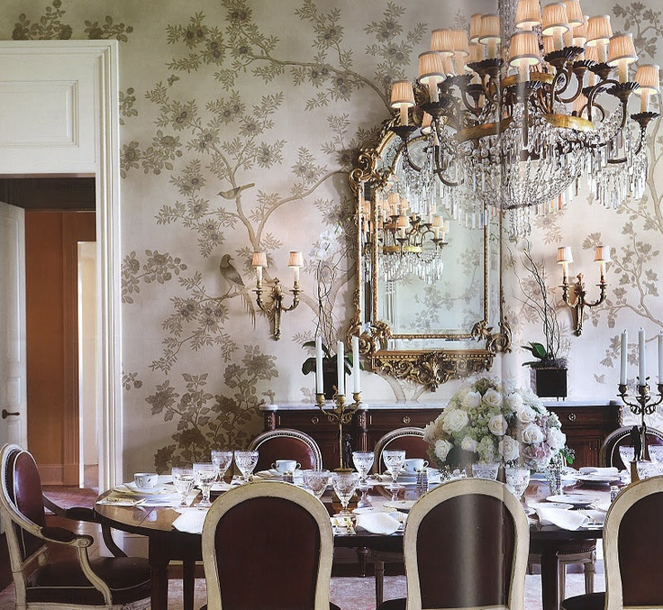 17 best images about dining room facelift on pinterest for Dining room decorating ideas wallpaper