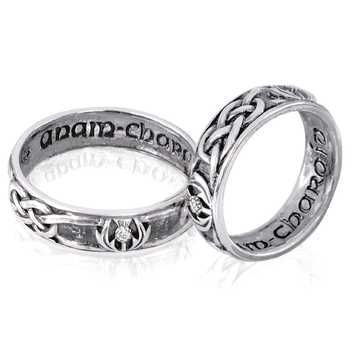 male engagement rings black and silver 42 - Scottish Wedding Rings