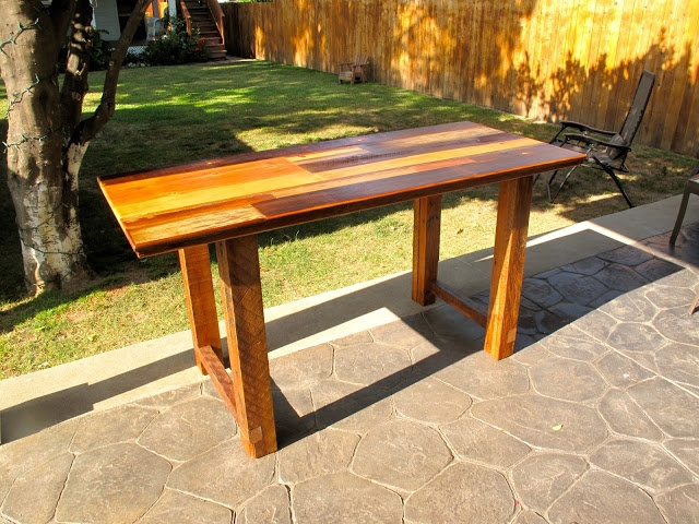Arbor Exchange | Reclaimed Wood Furniture: Patchwork Kitchen Work Table