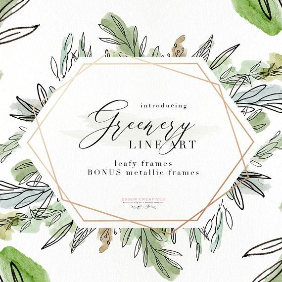 Watercolor Greenery Png Clipart Digital Leaf Frame Border Baby