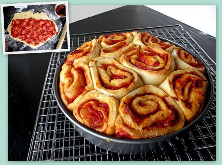 Pizza Buns! - It's like Cinnamon rolls...but it's PIZZA!