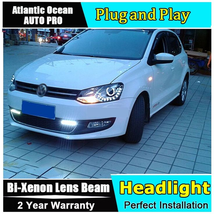 493.50$  Buy here - http://ali863.worldwells.pw/go.php?t=32249469303 - AUTO.PRO For vw polo headlights 2011-2014 bi xenon lens car styling H7 parking LED For vw polo led DRL car led head lamps