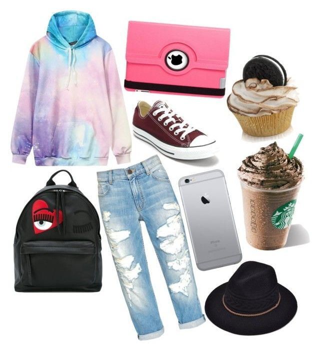 """Untitled #53"" by valentina-carvajal92005 on Polyvore featuring Converse, Chiara Ferragni and Natico"