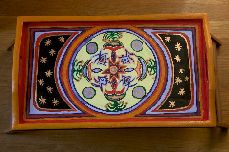 Decorated folding tray by Varda Artisticolors