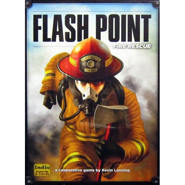 Flash Point : Fire Rescue is a co-operative game of rescue.  In Flash Point, the call comes in... 911, what is your emergency? On the other end is a panicked response of FIRE! Moments later you don the protective suits that will keep you alive, gather your equipment and rush to the scene of a blazing inferno. The team has only seconds to assess the situation and devise a plan of attack - then you spring into action like the trained professionals that you are.