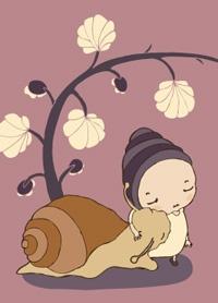 My dear friend - postcard illustration by Terese Bast.  #friends #love #flower #teresebast #illustration