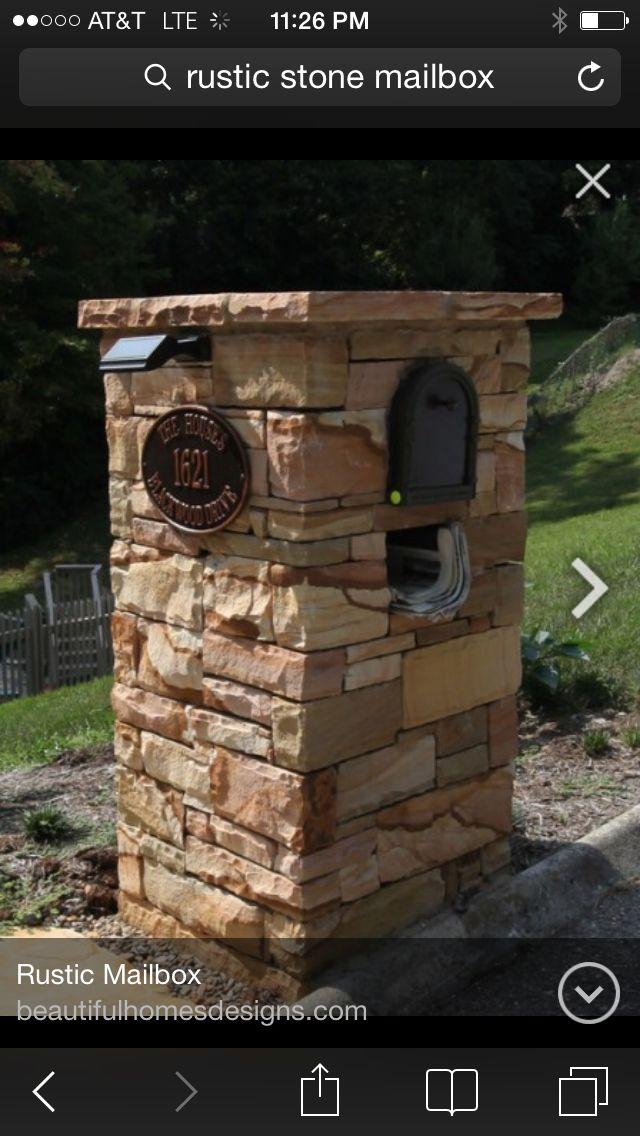 Rustic stone mailbox