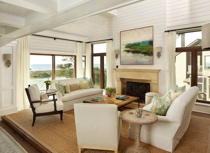 Duneside Renovations   Additions   Beach Style   Living Room   Charleston    M  Brennan Architects  Inc 151 best Beach houses images on Pinterest   Living spaces  . Beach Living Room Design. Home Design Ideas