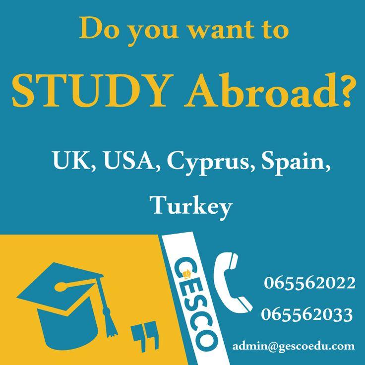 GESCO Study Abroad:UK, USA, Spain, Cyprus, Turkey Mecca St. Al-Hijaz Towers (158) office (603)  065562033/065562022/0797916416 #GESCOJo #Jo #Amman #Jordan #StudyAbroad