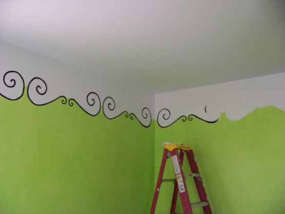 Great bedroom wall painting design idea!