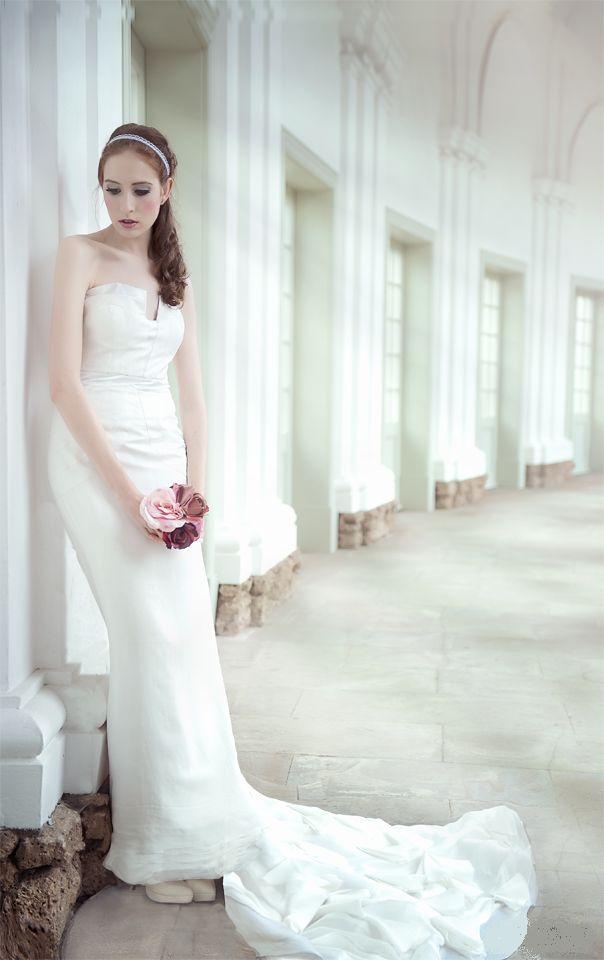 Kleid seide hochzeit