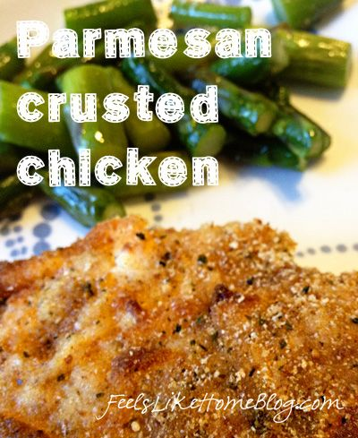 Parmesan Crusted Chicken Breasts - So Easy!Chicken Recipe, Chicken Breasts, Chicken Dinner, Asparagus Recipes, Parmesan Crusts, Fresh Asparagus, Dinner Dishes, Crusts Chicken, Delicious Dinner