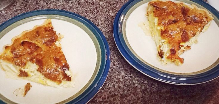 Bacon Apple Cheddar Quiche | quiches | Pinterest