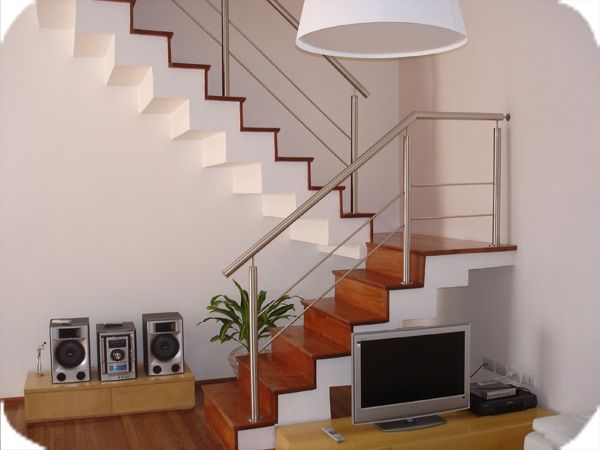 Baranda de acero inoxidable buscar con google casa - Pasamanos escaleras interiores ...