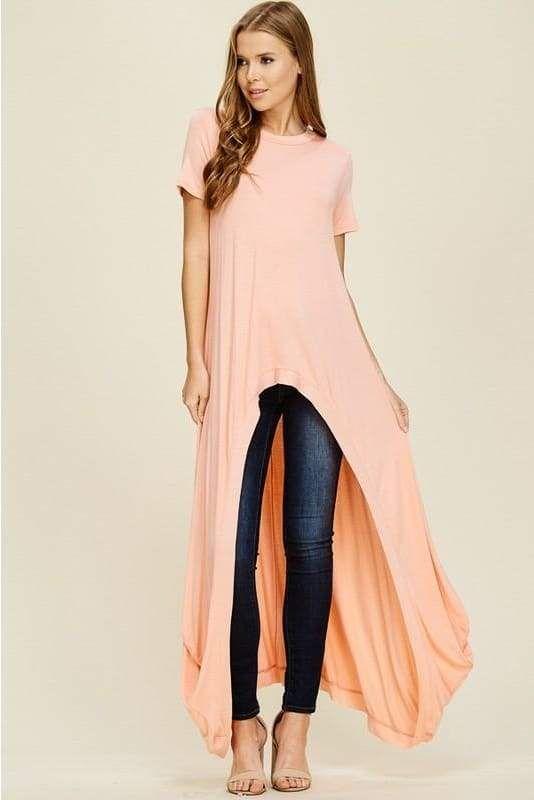 366112d4a2bdf9 Camilla Peach Hi-Lo Short Sleeve Top | Tops and Blouses | Tops ...
