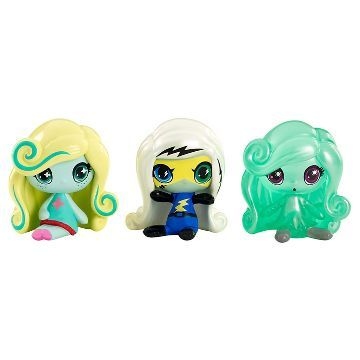 Monster High Minis Frankie Stein, Lagoona Blue, and Twyla Figure 3-Pack