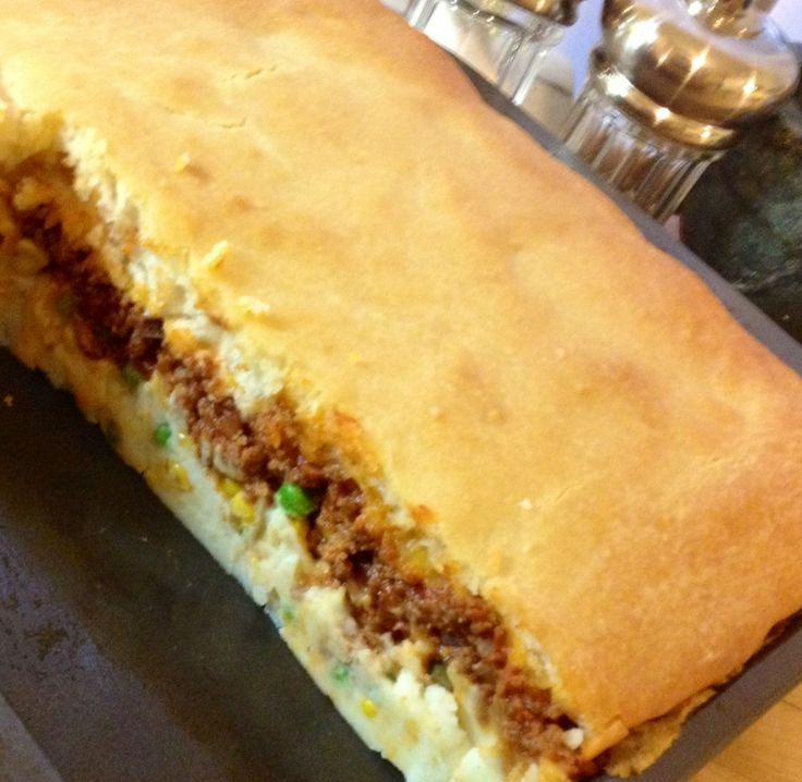 Shepherd S Pie With A Bisquick Biscuit Topping Secret Ingredient Shredded Cheddar Cheese