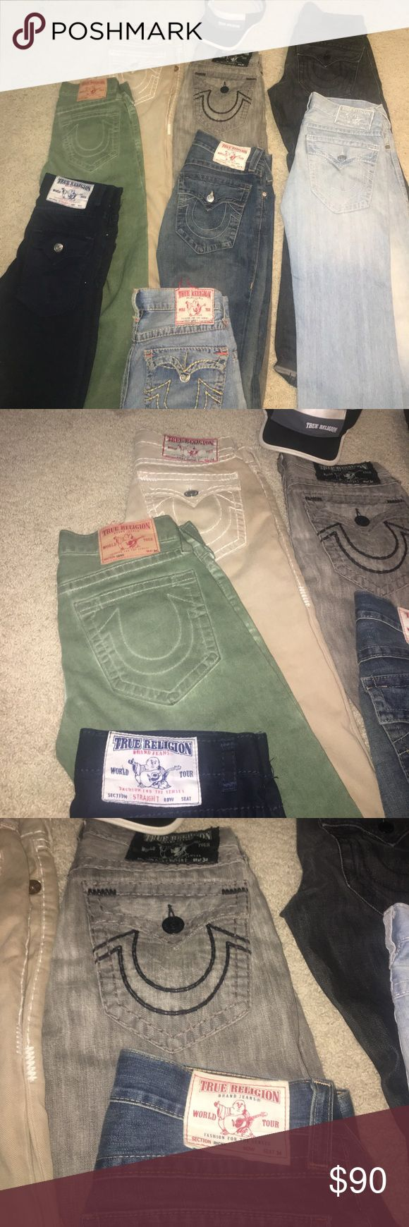 True Religion Jeans Men If you buy them all at once I will cut you a deal for 60$ a pair Instead of 80$ True Religion Jeans Straight