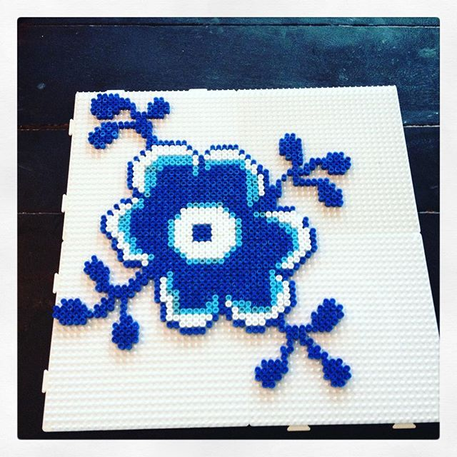 Royal Copenhague design hama beads by mrsmaagaard