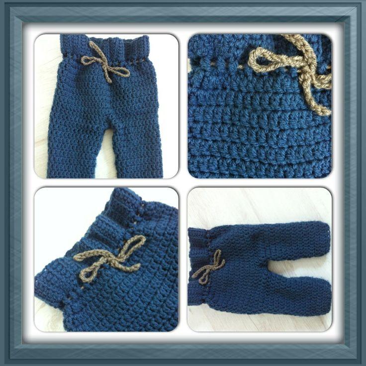 Crocheted pants for my son. Nice and warm for the winter :) !!! Gehaakt broekje voor mijn zoontje.