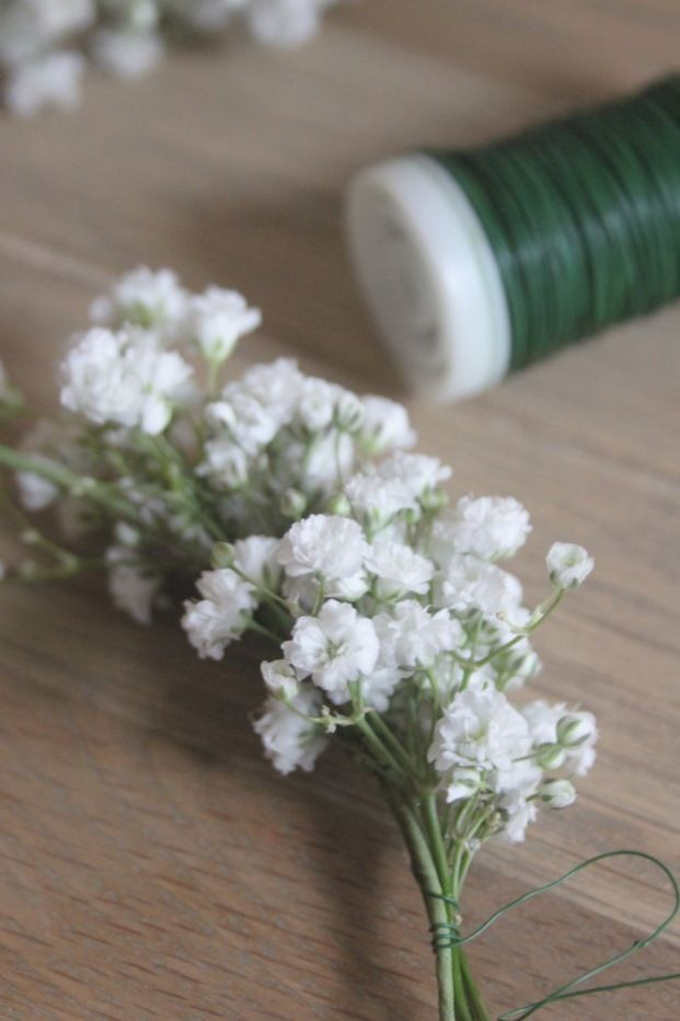 DIY Couronne de fleurs / gypsophile - flower crown