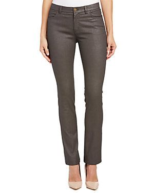 Lafayette 148 New York Concrete Iridescent Curvy Slim Leg